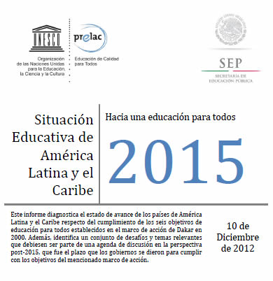 informe de educacion hacia el 2015